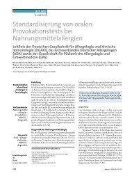 Standardisierung von oralen Provokationstests - Ärzteverband ...