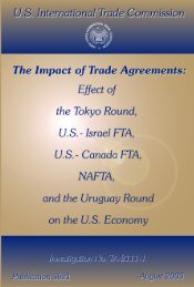 The Impact of Trade Agreements: Effect of the Tokyo Round ... - USITC