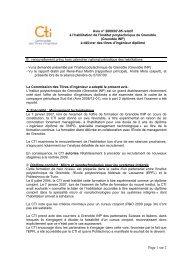Avis IP Grenoble - Commission des Titres d'Ingénieur