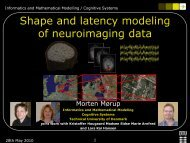 Shape and Latency modeling of Neuroimaging Data - DTU Informatics