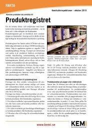 Produktregistret - Kemikalieinspektionen