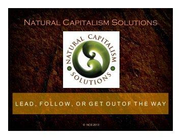 download slides - Natural Capitalism Solutions