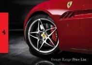Pricelist Ferrari GB 2013