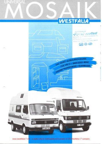 WE5TFAUA - VW Westfalia LT Camper Info Site