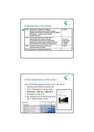 Kurzinformation zu Projekten durch den CC-Leiter - VSA