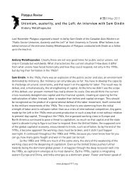 An interview with Sam Gindin # 35   May 2011 - Platypus