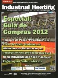Revista Industrial Heating – Atmosfera para Fornos de Sinterização