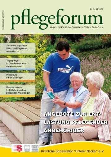 Pflegeforum - Kirchliche Sozialstation Unterer Neckar