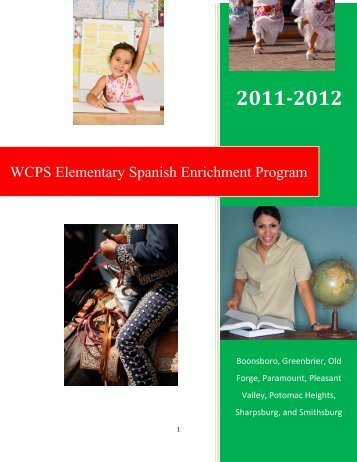 WCPS Elementary Spanish Enrichment Program - Washington ...