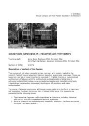 Sustainable Strategies in Industrialised Architecture