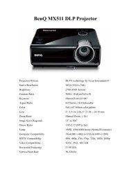 BenQ MX511 DLP Projector - Network Spectrum, Inc.