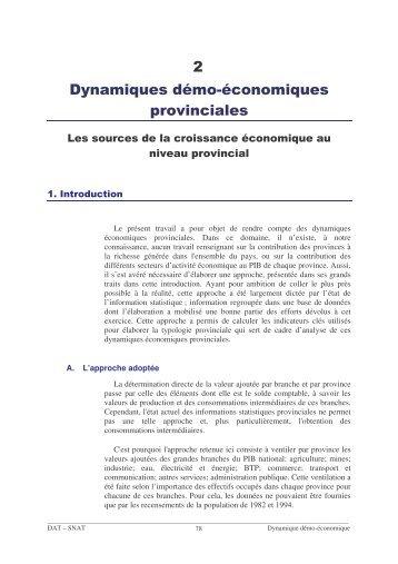 2 Dynam iques dém o-économ iques provinciales - Euromedina