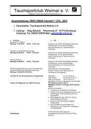 Ausschreibung VDST-CMAS-Taucher T3 2013 - LTVT