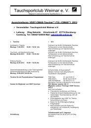 Ausschreibung VDST-CMAS-Taucher T2 2013 - LTVT