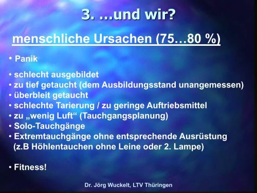 pdf-Präsentation - Prävention Tauchunfall - LTVT