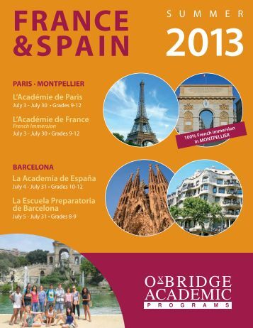 L'Académie de Paris - Oxbridge Academic Programs
