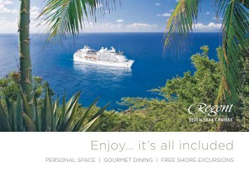 Enjoy… it's all included - Ask Mr. Cruise