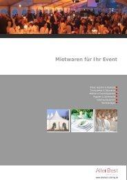 Mietwaren für Ihr Event - AllerBest Catering
