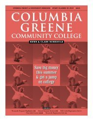 Summer Registration - Columbia-Greene Community College
