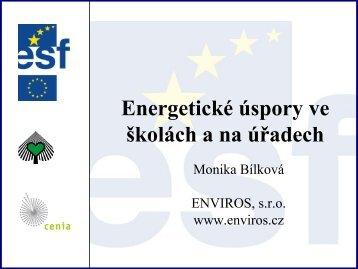 Monika Bílková, Energetické úspory ve školách a na úřadech (PDF ...