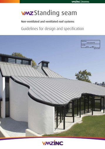 Standing seam - vmzinc uk