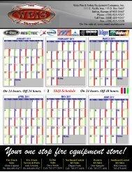 Shift Calendar 2011 - Weis Fire & Safety Equipment Company, Inc.