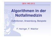 2. Algorithmen in der Notfallmedizin - FINeST