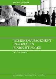 Wissensmanagement in sozialen Einrichtungen - Sozialinformatik
