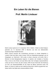 Prof. Martin Lindauer - Bienenzuchtverein Sulzbach-Rosenberg 1871