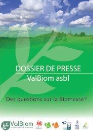 Dossier de presse ValBiom 2012