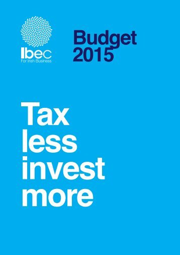 Ibec+Budget+2015+submission