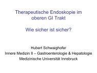 Therapeutische Endoskopie im oberen GI Trakt Wie sicher ist sicher?