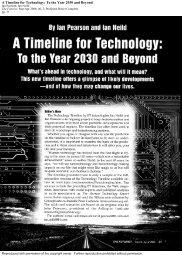 ian pearson timeline for technology