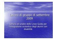 linee guida per l'integrazione - 9° Circolo Didattico di Modena