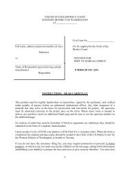 2241 Petition for Writ of Habeas Corpus - Western District of ...