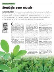 Article Revue UFA concernant la culture de luzerne.