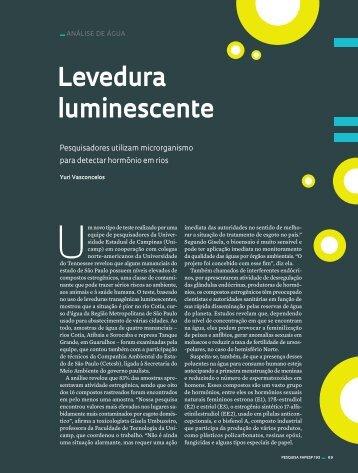 Levedura luminescente - Revista Pesquisa FAPESP