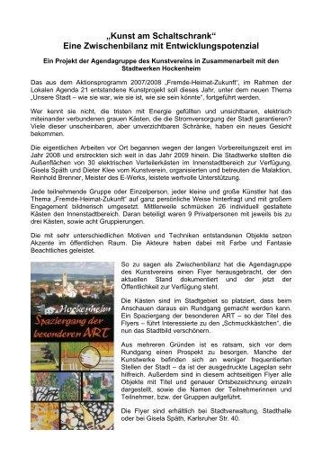 weitere Informationen - Kunstverein Hockenheim