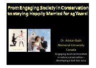 12.30 BATH - From engaging society in conservation to staying ...