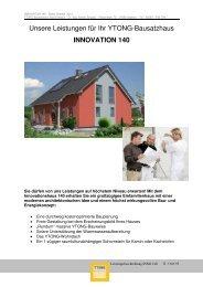 und Leistungsbeschreibung Innovationshaus INNO 140 - Ytong ...