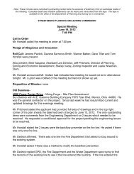 Special Meeting June 19, 2012 7:00 PM Call to Order ... - Streetsboro