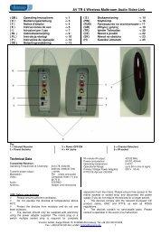 AV TR 4 Wireless Multiroom Audio Video Link Technical Data