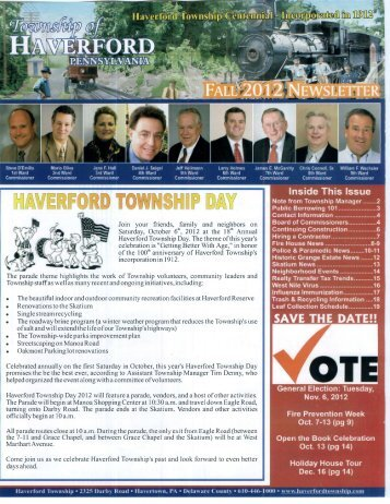 Fall 2012 - Home - Haverford Township Information Center