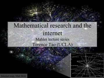 Mathematical research and the internet