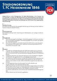 Stadionordnung (PDF) - 1. FC Heidenheim