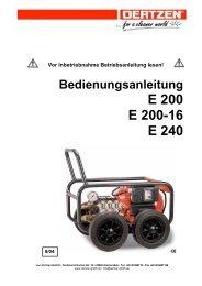 Bedienungsanleitung E 200 E 200-16 E 240 - von Oertzen GmbH