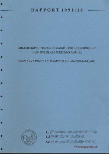 RAPPORT 1991:18 - Bild.ylm.se - Murberget