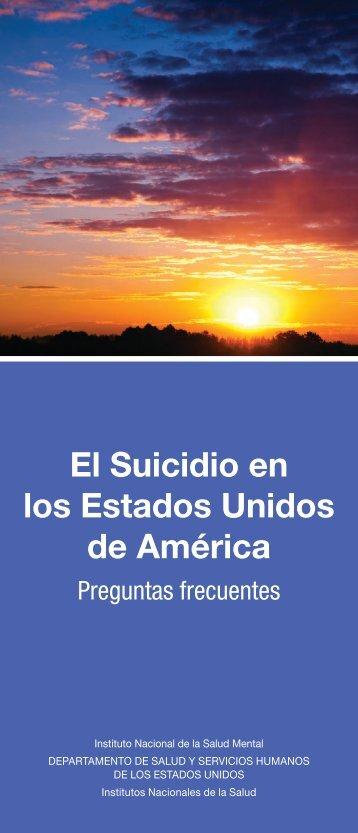 El Suicidio en los Estados Unidos de América: Preguntas ... - NIMH