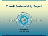 Transit Sustainability Project - TransForm