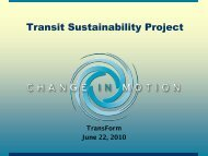 Transit Sustainability Project - TransForm